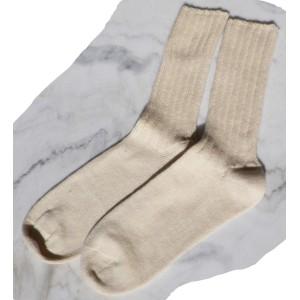 Socquette sans élastique hiver écru Soie/laine/Coton - chaussettes bio