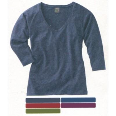 T-shirt en coton bio et chanvre, manches raglan longueur 3/4, LAURYN