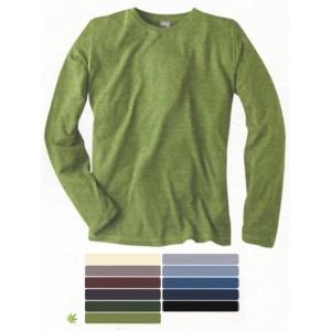 T-shirt  en chanvre et coton bio, basique à manches longues DIEGO