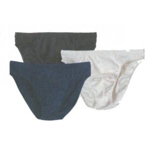 Slip taille basse, écru, noir,marine graphite,  coton bio - Sous vêtement bio