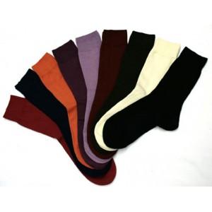 Socquettes fines ton uni en coton biologique