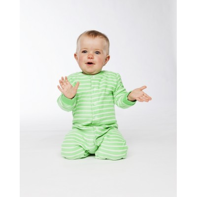 Pyjama Grenouillière rayé, coton biologique - Vêtement bébé bio