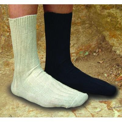 Socquettes soir d'automne coton bio / lin  – chaussettes bio