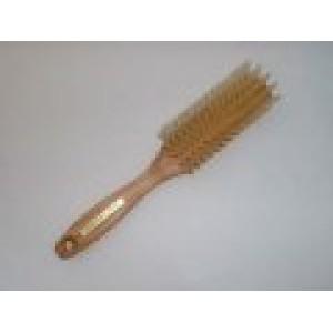 Brosse en bois cheveux fins