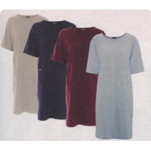 Shirt de nuit en coton biologique, coupe large ample