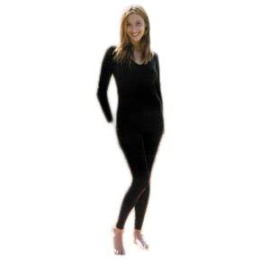 legging style bas écru,noir,charbon laine/soie - Sous vêtement bio