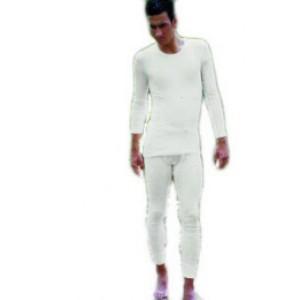 Maillot homme manche longue col rond coton biologique; écru,noir,marine graphite